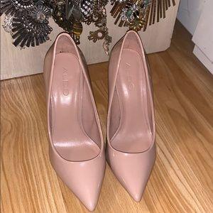 Nude ALDO Patent leather heels